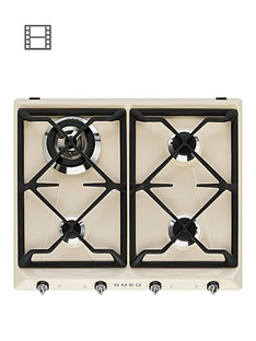 smeg-sr964pgh-60cm-built-in-4-burner-gas-hob-cream