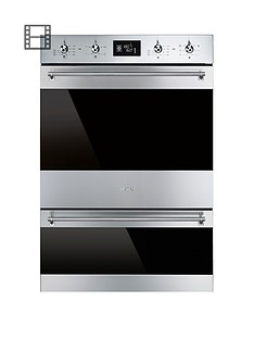 smeg-dosp6390x-60cm-built-in-classic-multi-function-double-oven