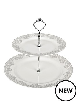 denby-monsoon-filigree-silver-cake-stand