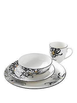 Denby Monsoon Chrysanthemum 16Piece Dinner Set