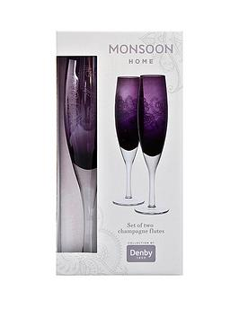 Monsoon Denby Cosmic Set Of 2 Champagne Flutes