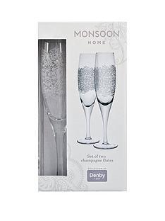 monsoon-denby-filigree-champagne-flutes-ndash-set-of-2