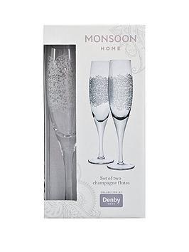 Monsoon Monsoon Denby Filigree Champagne Flutes &Ndash; Set Of 2 Picture