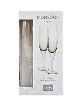 Monsoon Denby Lucille Gold Champagne Flutes