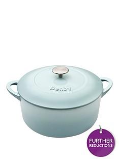 denby-pavilion-24cm-cast-iron-round-casserole-dish