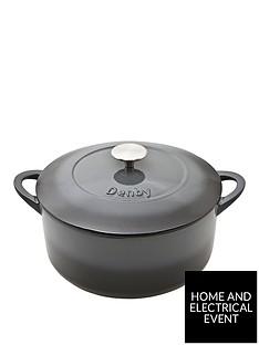denby-halo-26cm-cast-iron-round-casserole-pot