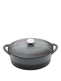 denby-halo-28cm-cast-iron-oval-casserole-pot