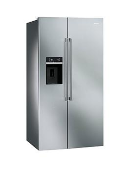smeg-sbs63xed-american-style-2-door-no-frost-fridge-freezer-stainless-steel