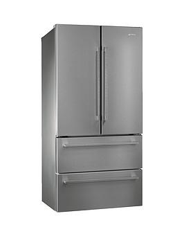 Smeg Fq55Fx1 American Style 2Door 2Drawer Frost Free Fridge Freezer