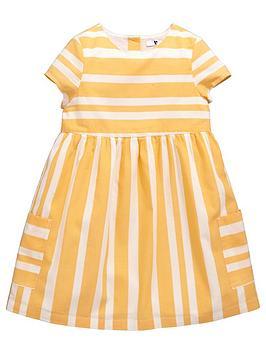 Mini V By Very Girls Woven Stripe Dress