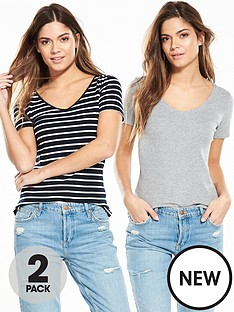 v-by-very-2-pack-v-neck-ribbed-t-shirts