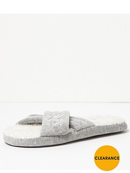 river-island-river-island-grey-jersey-intial-cross-over-slipper
