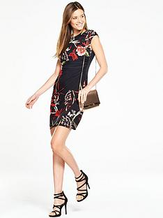 wallis-trailing-oriental-dress-black