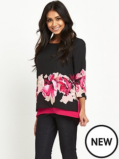 wallis-wallis-petite-midnight-floral-double-layer-shell-top
