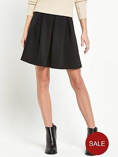 miss-selfridge-scuba-skater-skirt-black