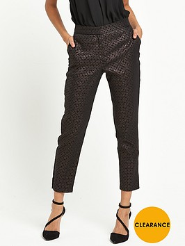wallis-petite-textured-trousers-bronze