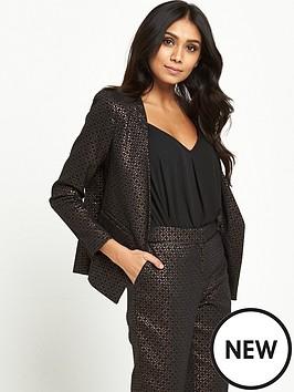 wallis-petite-textured-jacket-bronze