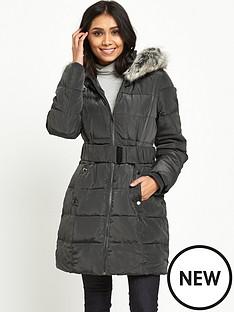 wallis-petite-padded-midi-buckle-coat-grey