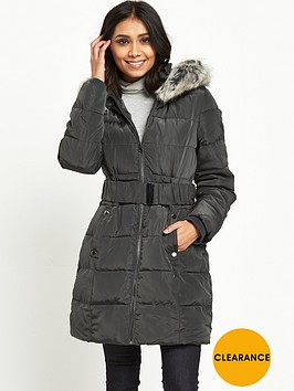 wallis-petite-padded-midi-buckle-coat-grey