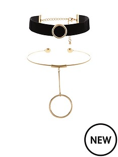 v-by-very-velvet-amp-metal-choker-set