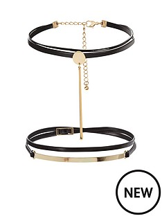 v-by-very-2-pack-pu-choker-set