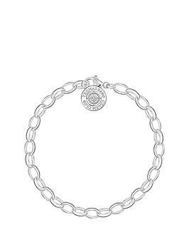 Thomas Sabo Thomas Sabo Charm Club Sterling Silver Diamond Bracelet
