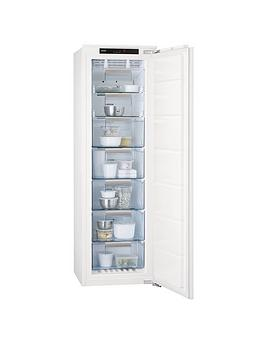 Aeg Agn71813C0 56Cm Wide Integrated Upright Freezer  White
