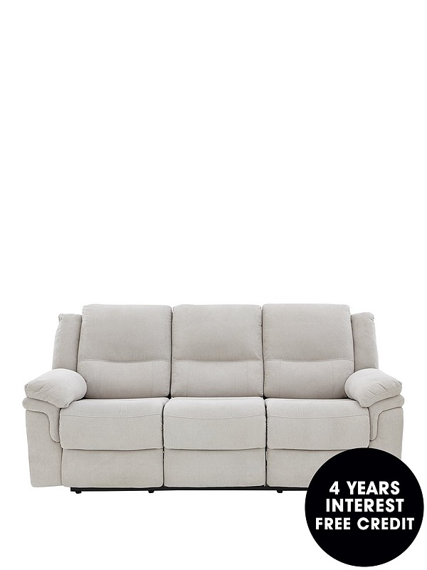 Albion Fabric 3 Seater Manual Recliner Sofa