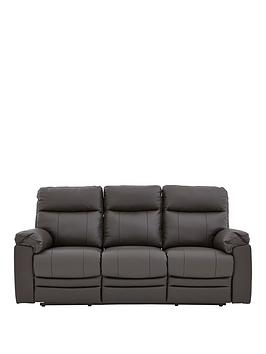 Buxton 3Seater Premium Leather Manual Recliner Sofa