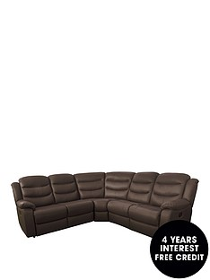 rothburynbspluxury-fauxnbspleather-manual-recliner-corner-group-sofa