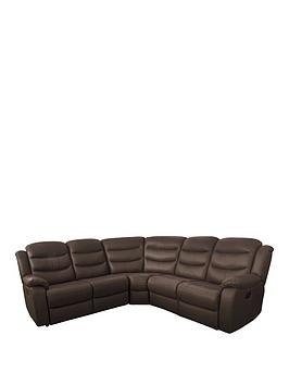 Very Rothbury Luxury Faux Leather Manual Recliner Corner Group Sofa Picture