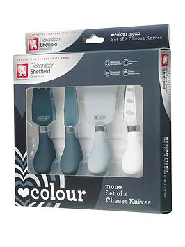 richardson-sheffield-love-colour-mono-4-piece-cheese-knife-set-with-paddle-chopping-board
