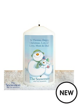 the-snowman-personalised-candle
