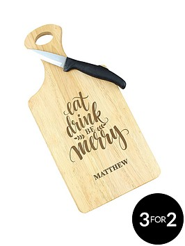 personalised-eat-drink-amp-be-merry-wooden-paddle-board