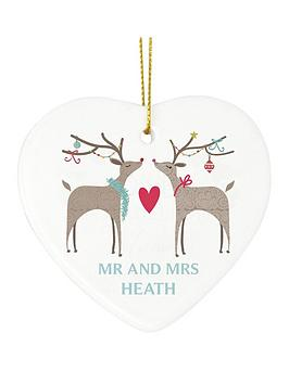 personalised-reindeer-couple-ceramic-heart