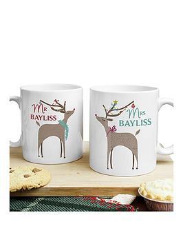 personalised-reindeer-couple-mug-set