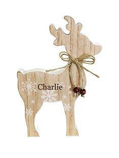 personalised-wooden-reindeer-decoration
