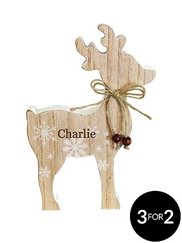 personalised-wooden-reindeer-decoration