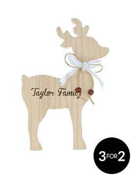 personalised-wooden-reindeer-family-name-decoration