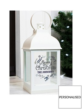 personalised-black-christmas-lantern