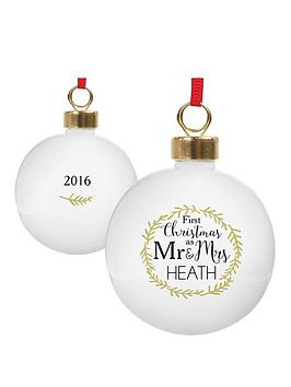 personalised-1st-christmas-as-mr-amp-mrs-bauble