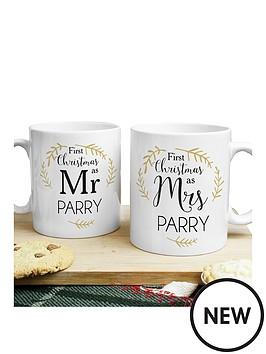 personalised-1st-christmas-as-mr-amp-mrs-mug-set