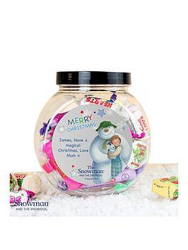 the-snowman-personalised-sweet-jar