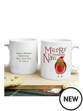 personalised-christmas-robin-nan-mug