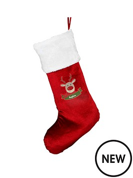 personalised-reindeer-christmas-stocking