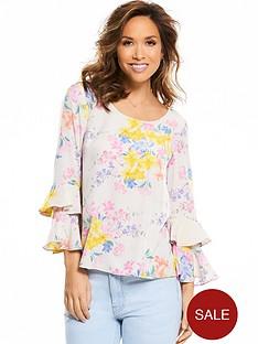 myleene-klass-ruffle-sleeve-button-back-blouse