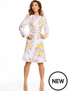 myleene-klass-pintuck-front-tea-dress