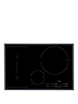 Aeg Hk854320Fb 78Cm Wide Induction Hob  Black