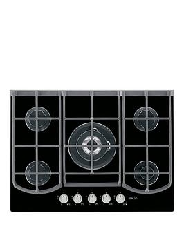 Aeg Hg753430Nb Five Burner 74Cm Wide Gas Hob  Black