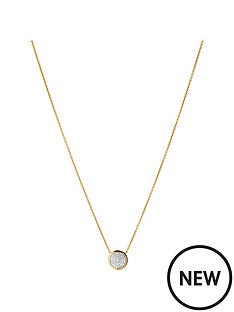 links-of-london-links-of-london-sterling-silver-18kt-gold-plated-diamond-set-round-necklace